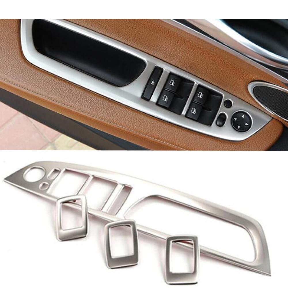 pour BMW X5 e70 X6 e71 2008 14 Gnnlor 4pcs d/écalcomanies de d/écoration de Panneau daccoudoir de Porte de Voiture en Verre de fen/être en Acier Inoxydable