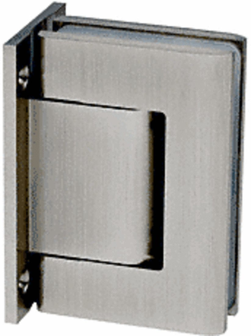 CRL Brushed Satin Nickel Oil Dynamic Full Back Plate Wall-to-Glass Hinge - Hold Open by CR Laurence (Image #1)