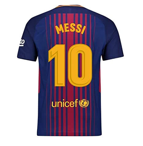 b9a35dcabbb aaDDa Barcelona Home Kit Messi Printed Jersey with Shorts 2017-2018 (XL)