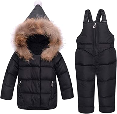 M/&A Kids Girls Hooded Puffer Down Jacket Long Winter Coat Children Outerwear