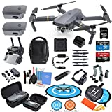 DJI Mavic PRO Drone Quadcopter Flymore Combo with 3 Batteries, 4K Professional Camera Gimbal Bundle Kit with MUST HAVE Accessories