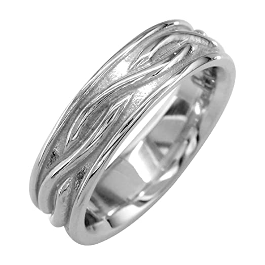 infinity wedding band in sterling silver 6mm size 35 - Infinity Wedding Ring