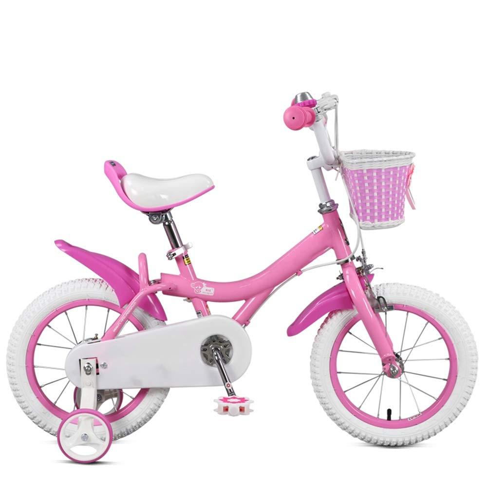 ventas al por mayor blanco blanco blanco Axdwfd Infantiles Bicicletas Bicicletas para niños 12 14 16 18 Pulgadas, Bicicleta para niños de Acero al Carbono con Rueda de Entrenamiento Regalo para niños y niñas de 2-4 años 12in  entrega rápida