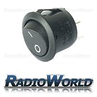 Black Round Rocker Switch Car dash light ON/OFF 12v