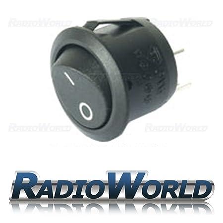 Black Round Rocker Switch Car dash light ON/OFF 12v: Amazon.co.uk ...
