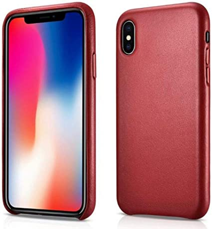 Custodia Lusso Pelle Cover per Apple iPhone 11 Pro Rosso