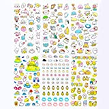 Original Mini Cartoon Laptop Scrapbook Stickers Decals, Doraking Decorative Lovely Cartoon Sea Lion Emojis Stickers for Scrapbook, Laptops, Monitor, Pen Case, Water Bottle(Sea Lion, 6Boards/ Pack)