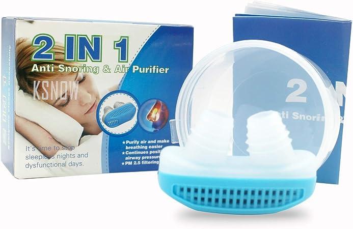 KSNOW 2 en 1 AntiSoring & - Purificador de Aire, Clip de Silicona ...