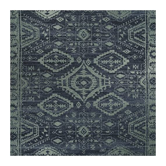 Maples Rugs Georgina Traditional Runner Rug Non Slip Hallway Entry Carpet [Made in USA], 2 x 6, Navy Blue/Green - 2 x 6 Hallway Runner Rug - Traditional Border style with rich, dual-colored design. An elegant and classic addition to different types of furniture and rooms. Timeless Design with 100% Nylon Pile for Added Durability and Fade Resistance 0.44 Inch Pile Height, Low Profile to be Placed in Any Setting. Easy Care and Machine Washable - runner-rugs, entryway-furniture-decor, entryway-laundry-room - 61lxH3Tvb8L. SS570  -