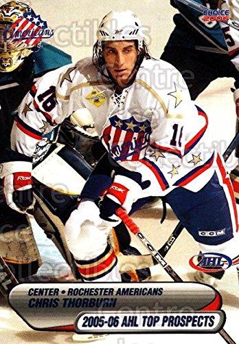 Top Hockey Prospects ((CI) Chris Thorburn Hockey Card 2005-06 AHL Top Prospects 43 Chris Thorburn)