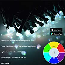 PEULED Smart String Lights, 33ft 100 LED 20 Functions, Remote Wireless Control by App, Mini String Lights for Indoor or Outdoor, Holiday, Party, Christmas Tree Decorations