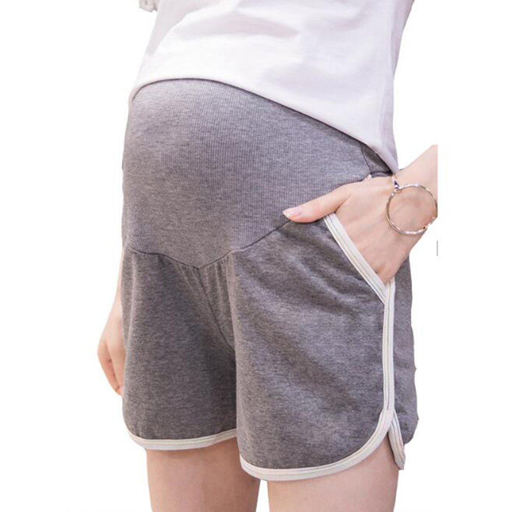Stylish Casual Maternity Shorts Adjustable Waistband Care Belly Leggings