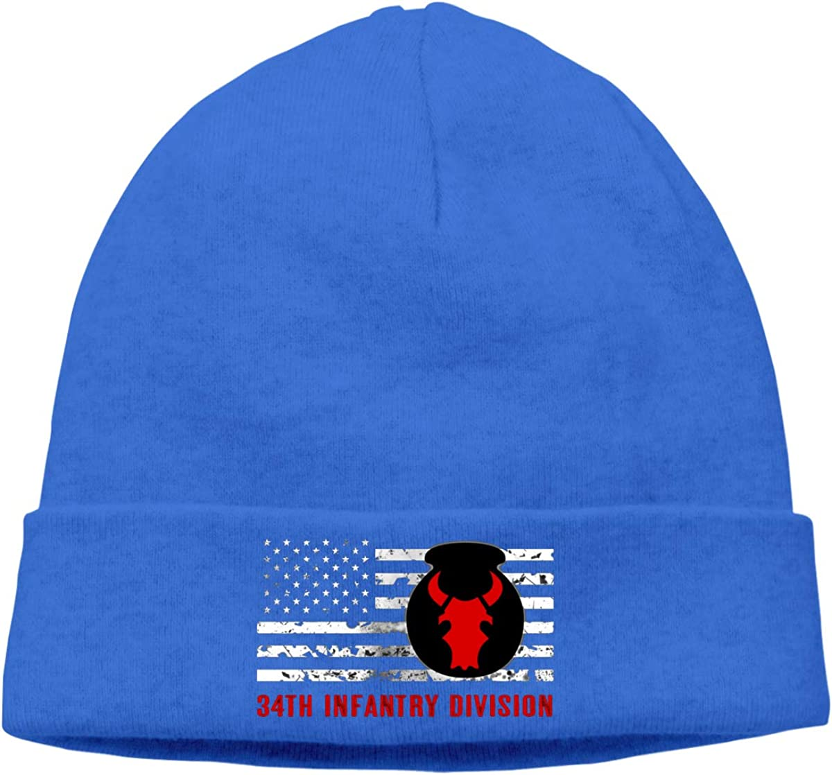 34th Infantry Division Distressed Flag Men Women Beanie Hat Knitted Beanie Knit Beanie