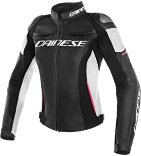 Dainese LOLA D1 LADY Giacca da moto in pelle, NeroIce