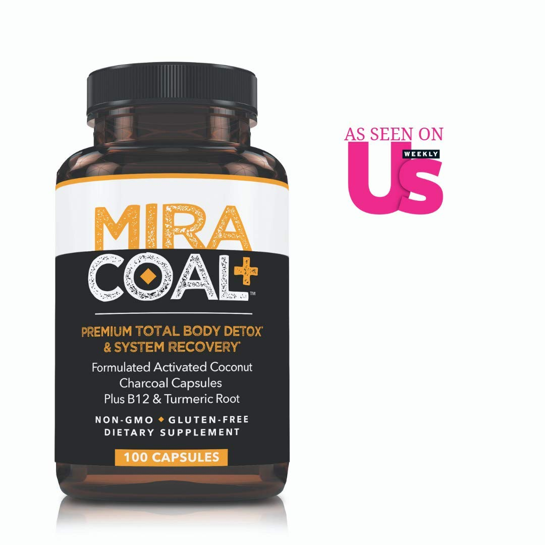 Miracoal Activated Charcoal Capsules for Detox - Turmeric Root for Inflammation | Vitamin B12 for Boosted Energy | Organic, Non GMO and Gluten by Miracoal (Image #1)