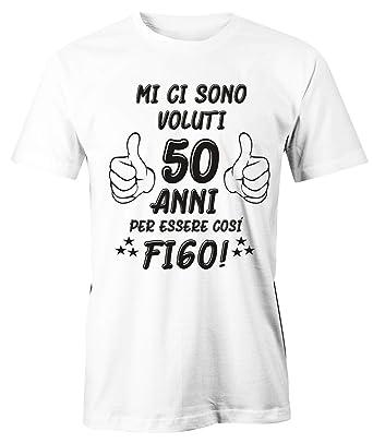 Puzzletee T Shirt Compleanno Uomo Maglietta 50 Compleanno Mi Ci Sono Voluti 50 Anni Per Essere Così Figo Idea Regalo