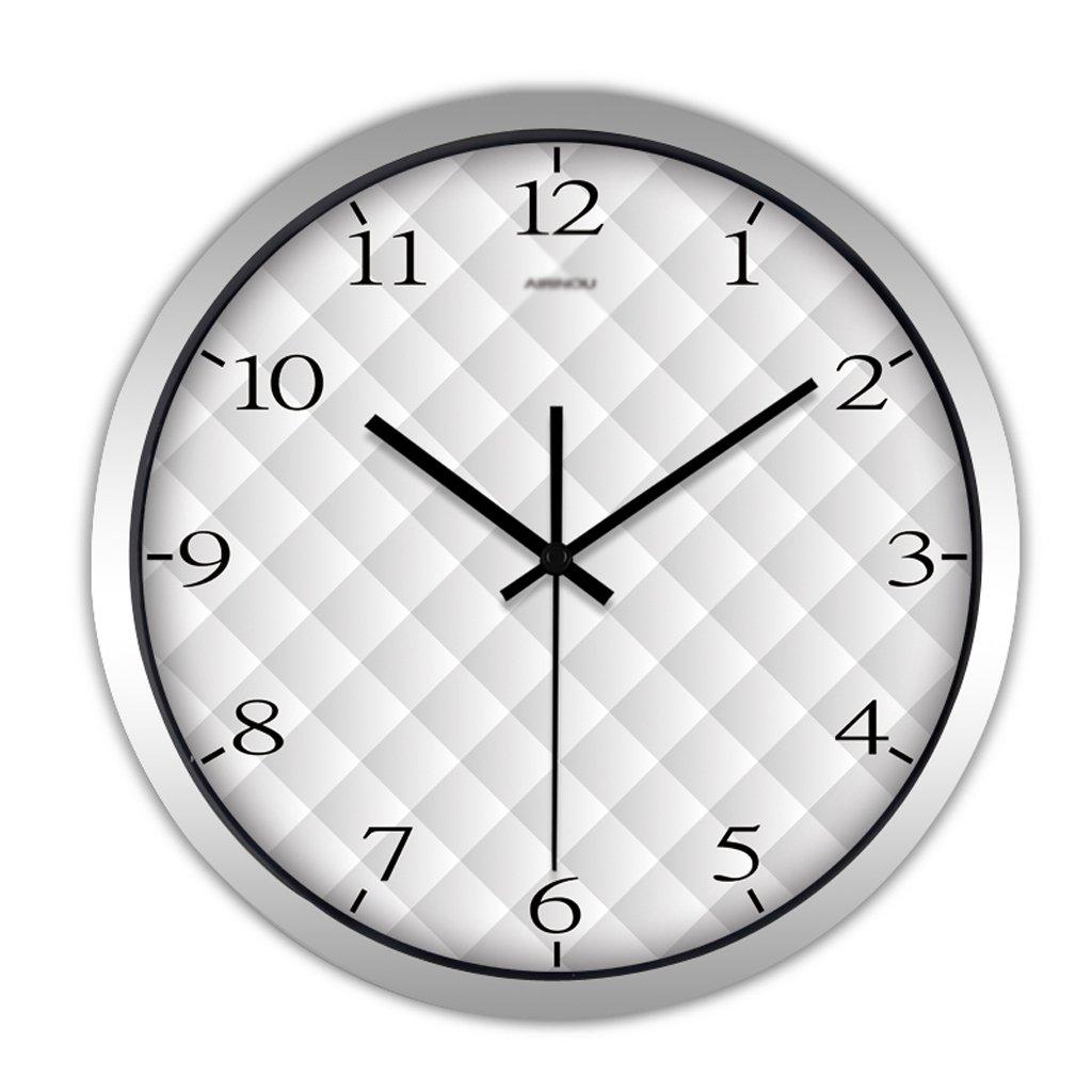 掛け時計 ラウンドクリエイティブモダンリビングルームウォールクロックパーソナリティ装飾的なアートの背景大きなクォーツ時計の壁のチャート Rollsnownow (色 : シルバー しるば゜, サイズ さいず : 14 inches) B07BKZ4CR3 14 inches|シルバー しるば゜ シルバー しるば゜ 14 inches