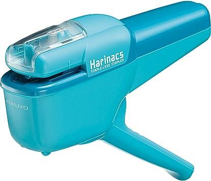 Light Blue Kokuyo Harinacs Japanese Stapleless Stapler Compact