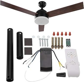 Ventilador de techo, 52 pulgadas, ventilador de techo Blades, luz ...
