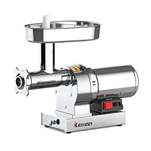 KITCHENER Heavy Duty Commercial Grade Electric Stainless Steel High HP Meat Grinder … (720lbs Per Hour)