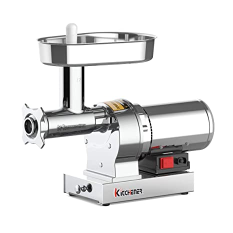Kitchener Elite Electric Meat Grinder & Sausage Stuffer #12 3/4 HP 720 LBS  Per/Hr 550 Watts Super Heavy Duty Stainless Steel Body Commercial Grade ...
