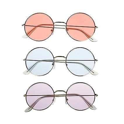 Amazon.com: Yamu John Lennon Hippie Style - Gafas de sol ...