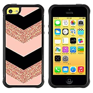 SHIMIN CAO@ Chevron Dress Fashion Glitter Gold Pattern Rugged Hybrid Armor Slim Protection Case Cover Shell For iphone 5C CASE Cover ,iphone 5C case,iphone5C cover ,Cases for iphone 5C