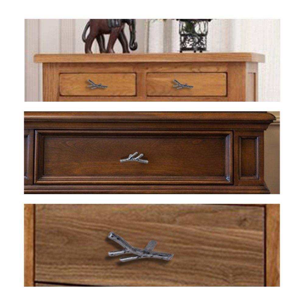 Cabinet Wardrobe Furniture Door Drawer Knobs Pulls Handles 10PCS Knobs WEICHUAN 10PCS Bronze Zinc Alloy Square Knobs Pulls Handles with Screws