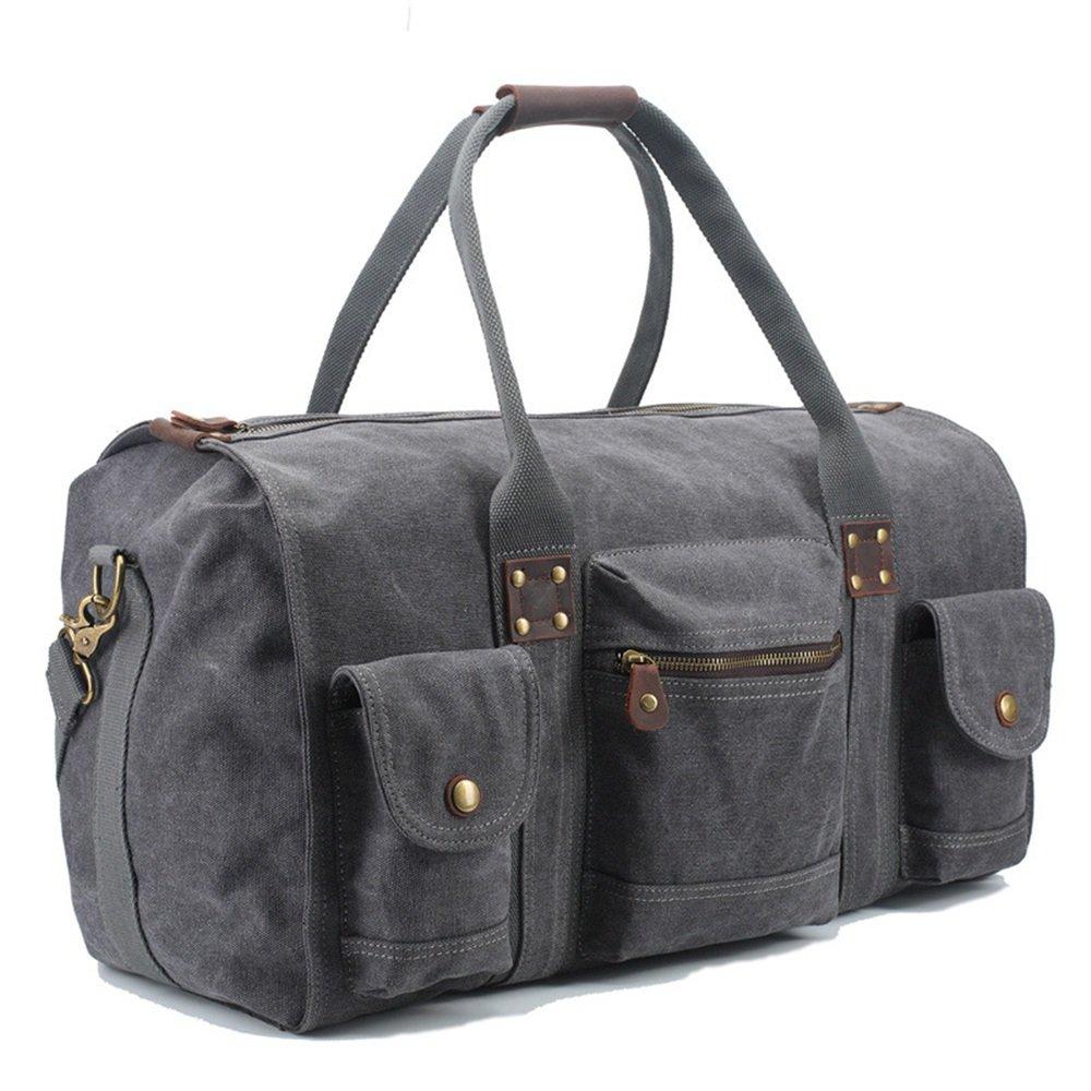 Ybriefbag Unisex Canvas Traveling Bag, Retro, Large Capacity Traveling Bag, Canvas Hand-held Men's Traveling Bag. Vacation