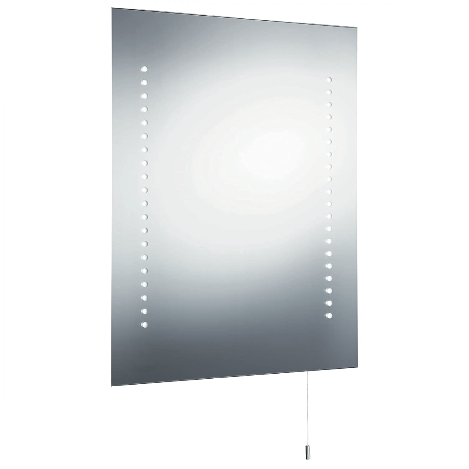 searchlight illuminated led touch battery operated bathroom mirror
