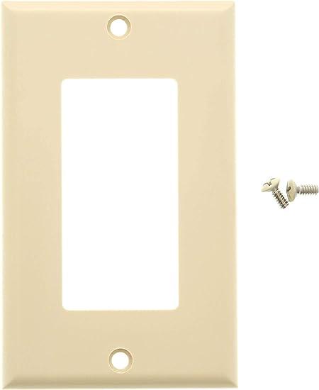 5x 1-Gang 2 Port//Hole RJ45//RJ11 Keystone Jack Insert Wall Plate Faceplate Ivory
