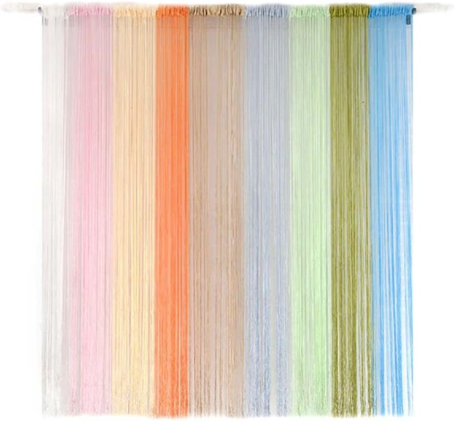 Voberry@ 20x78 Inch String Curtains Solid Color Net Fringe Panels Tassel Curtains for Door Windows Room Dividers Party//Birthday//Wedding Decoration A