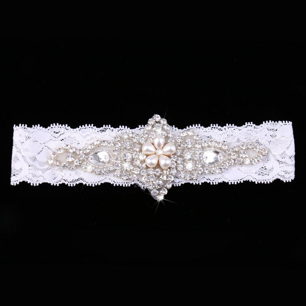 Hochzeit Strumpfband Kristall Strass Vintage Braut Satinband
