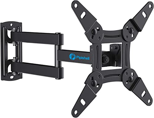Full Motion TV Monitor Wall Mount Bracket Articulating Arms Swivels Tilts Extension Rotation for Most 13-42 Inch LED LCD Flat Curved Screen TVs Monitors, Max VESA 200x200mm up to 44lbs by Pipishell