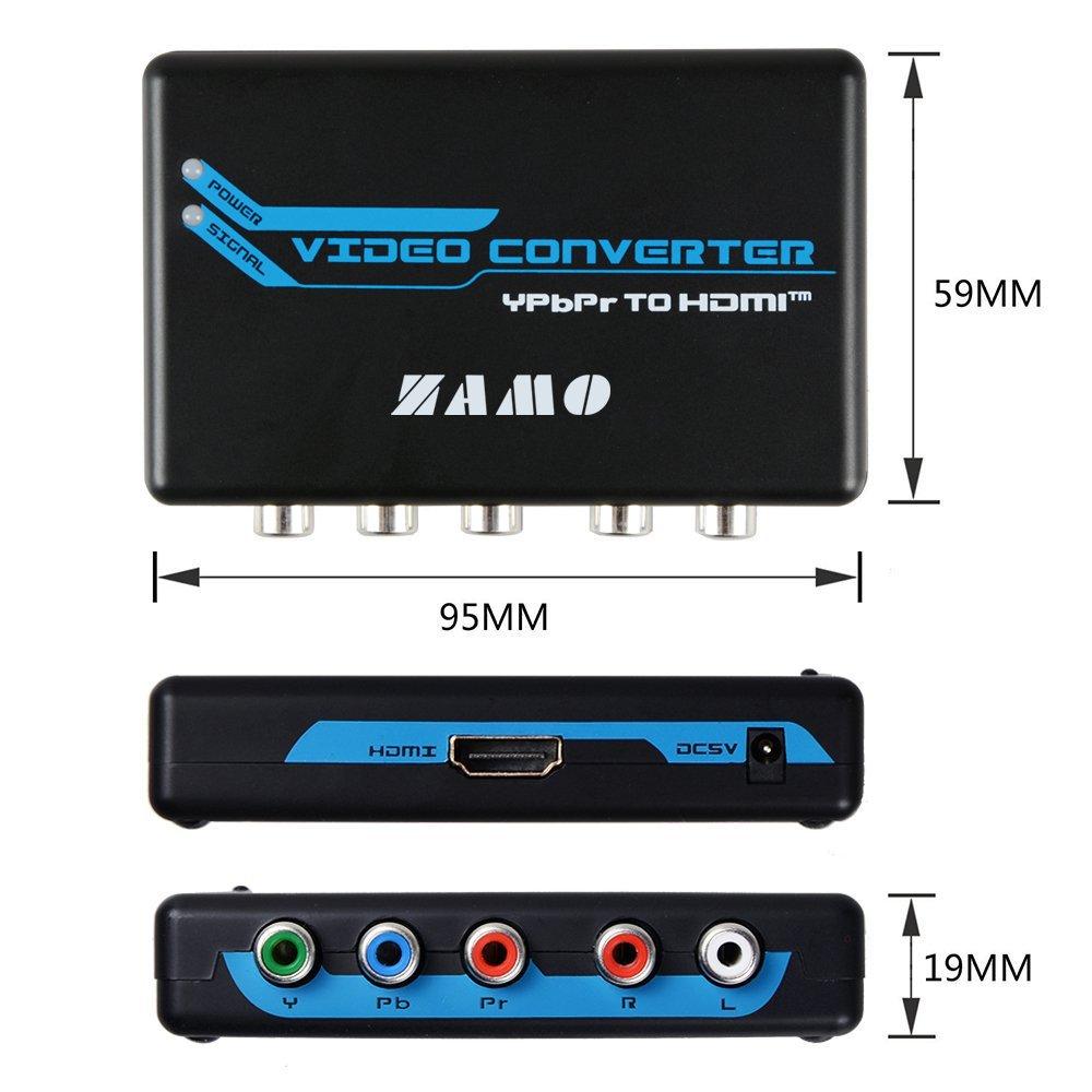 Amazon.com: ZAMO 5RCA Component RGB YPbPr to HDMI Converter v1.3 ...