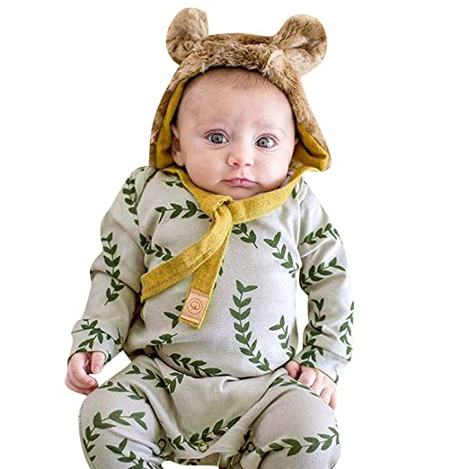 3b1f9a221 Amazon.com  Infant Baby Toddler Boys Girls Fall Winter Jumpsuit ...