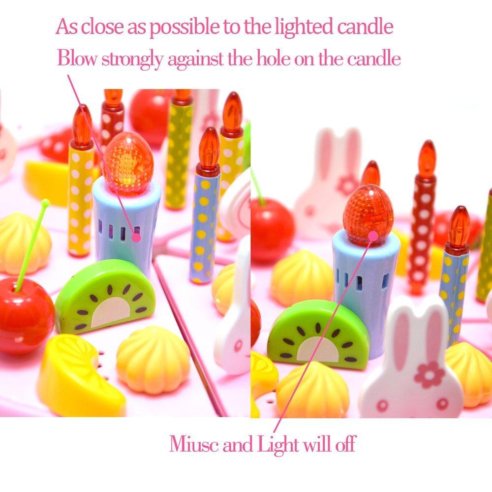Amazon Com Bignosedeer Birthday Singing Cake Toy 5 Inch Play
