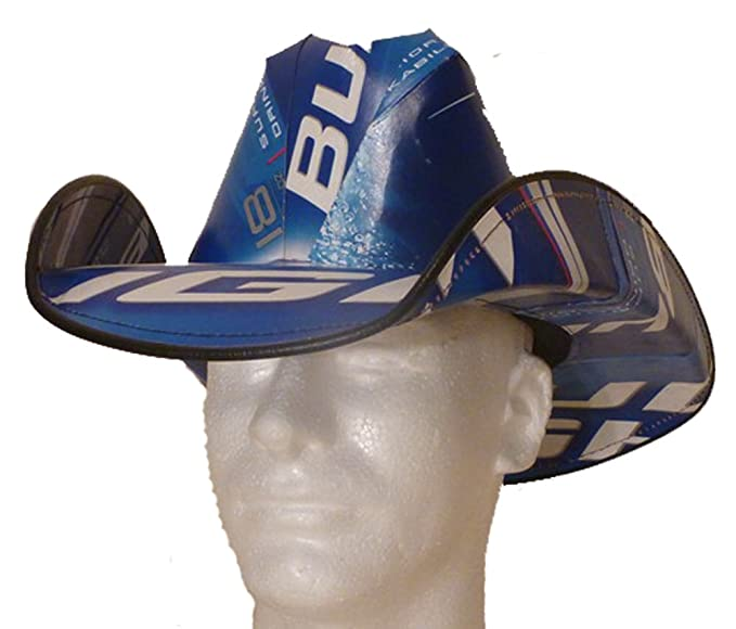 07d84ba646e Amazon.com  Beer Box Hat Made From Recycled Bud Light Beer Boxes  Clothing