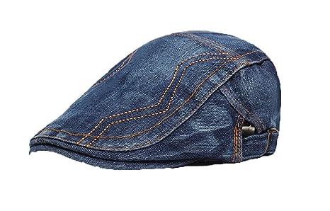 01cb02290c90a Hosaire Mujer Hombres Sombrero de Boina Gorra con Visera Casquillo Vintage  Sencilla Ocio al Aire