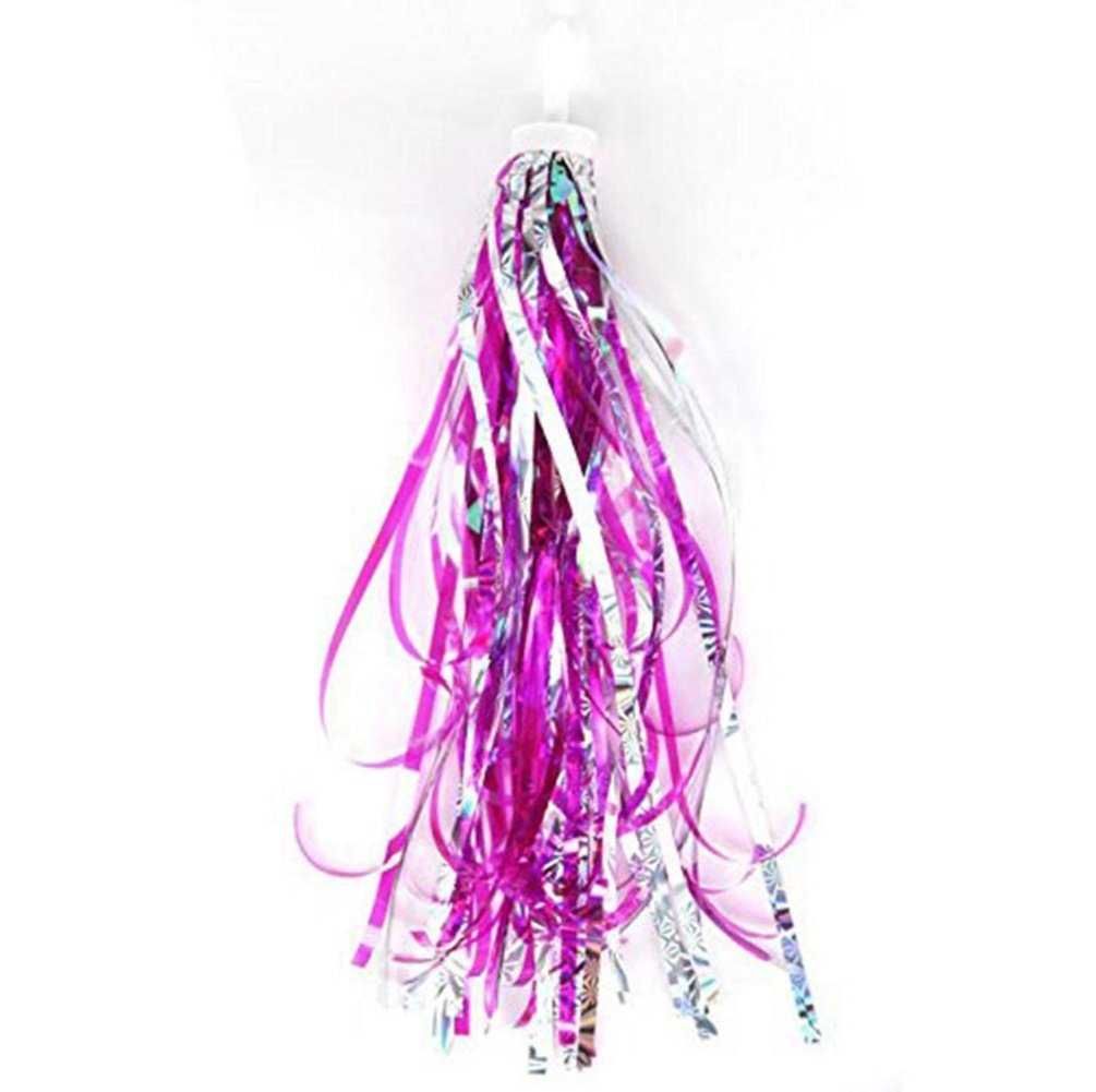 Sharlity Kids Colourful Laser Bicycle Streamers Tassel Ribbons for Boys Girls