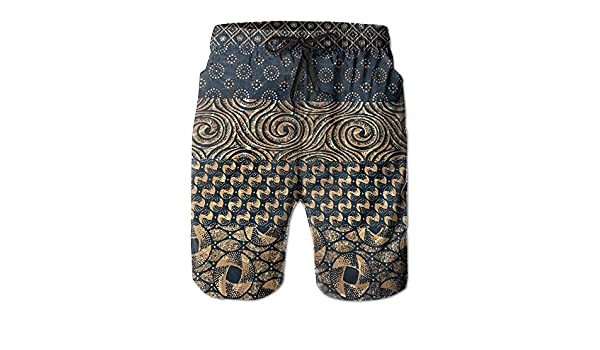 dd6f9fe662 Amazon.com: Men Quick Dry Beach Board Shorts Original African Ethnic Casual  Swim Trunks Surf Pants With Mesh Lining: Sports & Outdoors