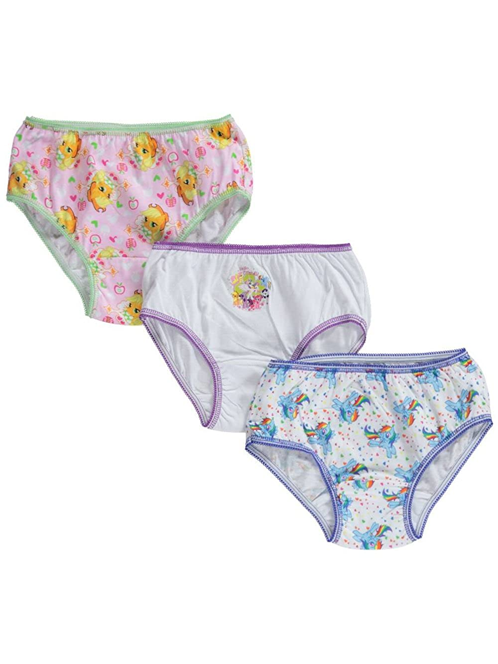 My Little Pony Little Girls' Toddler Magic Manes 3-Pack Panties 4T