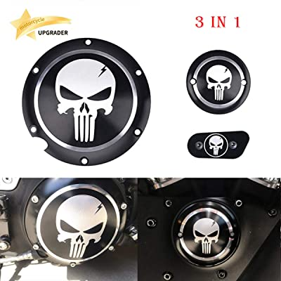 3 in 1 Skull Engine Derby Timer Cover For Harley Sportster Iron XL 883 1200 48 72 Brake Cylinder Cover Chain Inspection Cover ✔: Automotive