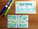 Dry Erase Index Cards - Reusable Flash Cards