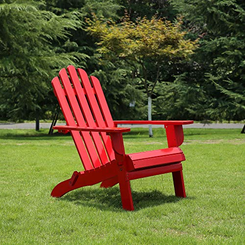 red adirondack chair resin - 4