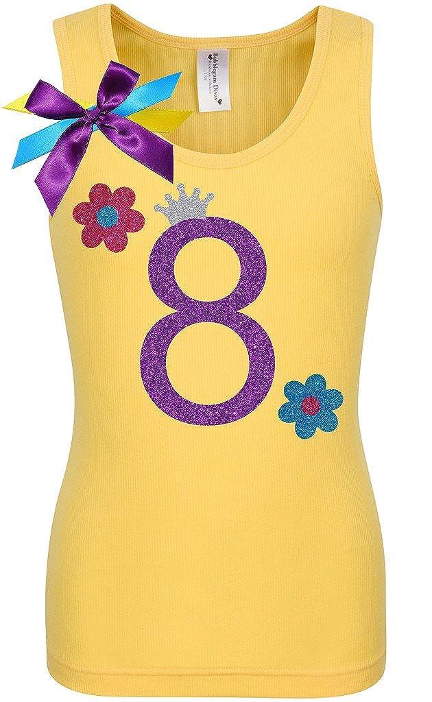 Bubblegum Divas Big Girls 8th Birthday Yellow Daisy Flower Shirt
