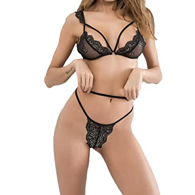 617806f154 ILUCI Sexy Lingerie For Women For Sex Women s Lingerie Lace Bra and Panty  Babydoll Bodysuit Sets Sleepwear Clearance at Amazon Women s Clothing store