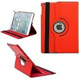 ROUGE - iPad Mini - Etui Housse rotative 360 dégrés de luxe pour iPad