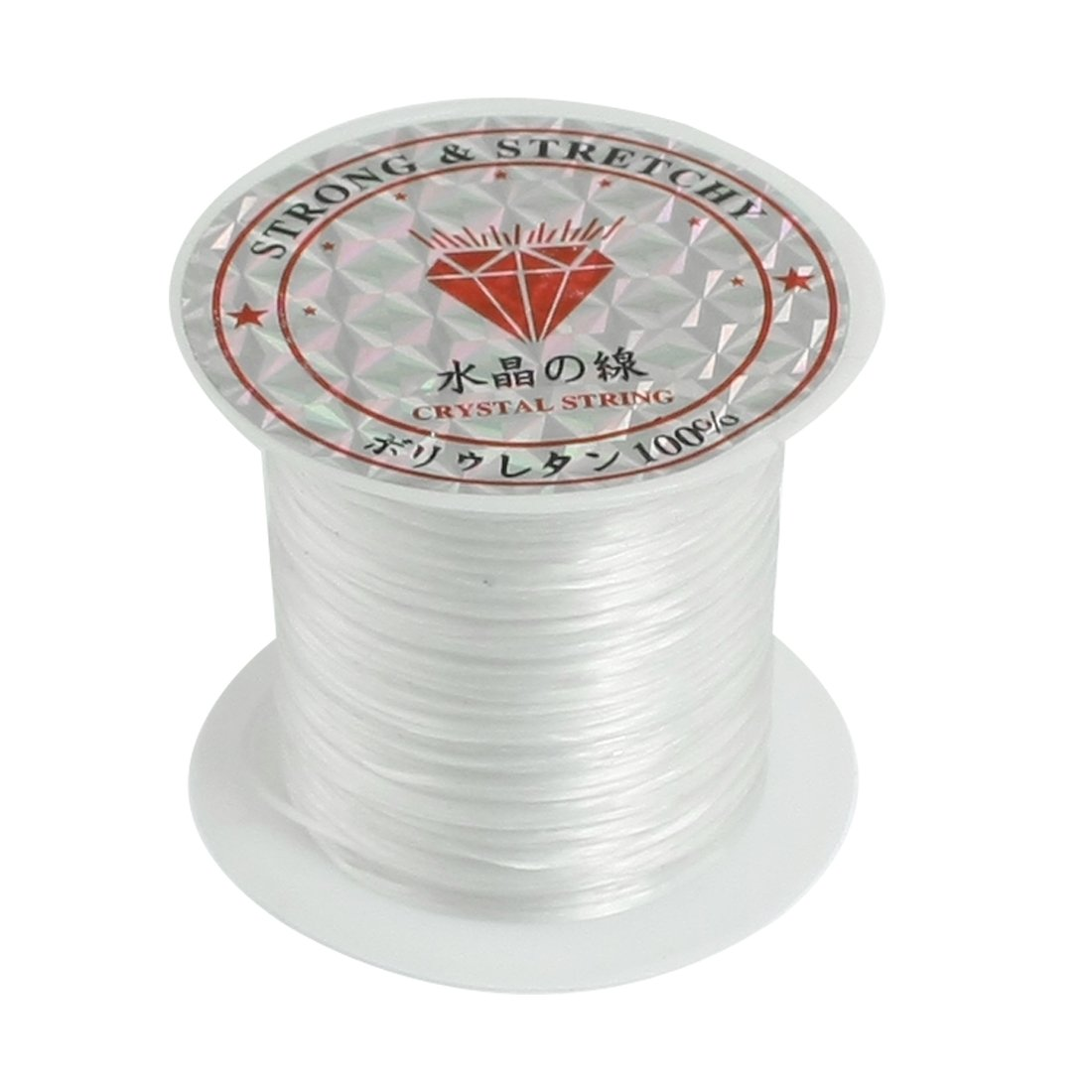 uxcell Elastic Stretchy Crystal Line Jewelry Beading Thread Spool 9M White a12052100ux0098