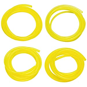 HUZTL 20 Feet Petrol Fuel Line Hose Tube with 4 Sizes (5 feet each) for Common 2 Cycle Small Engine Weedeater Chainsaw